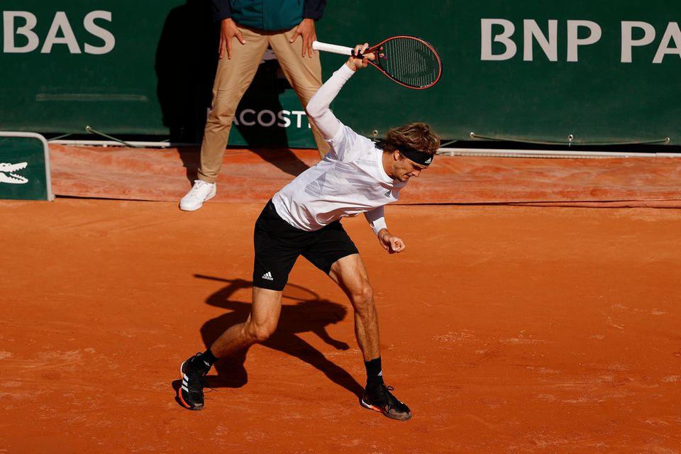 Alexander Zverev bei den French Open.