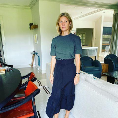 Auch wenn Gwyneth Paltrow einen ganz schönen Flunsch zieht: Ihr stilvolles Haus –inklusive Skateboard – gibt keinerlei Anlass zum Schmollen.