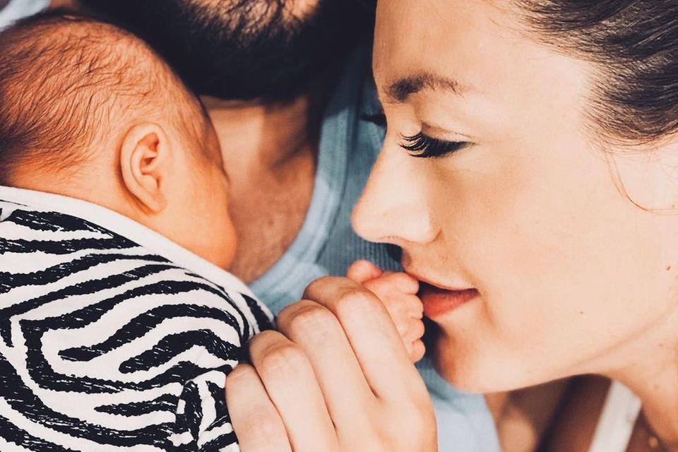 Das erste Kind von Fiona Erdmann und ihrem Partner Mohammed ist Anfang August zur Welt gekommen.