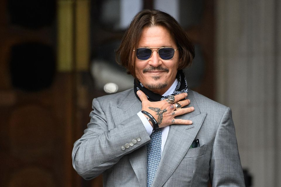 Johnny Depp im Juli 2020 beim Gerichtstermin in London