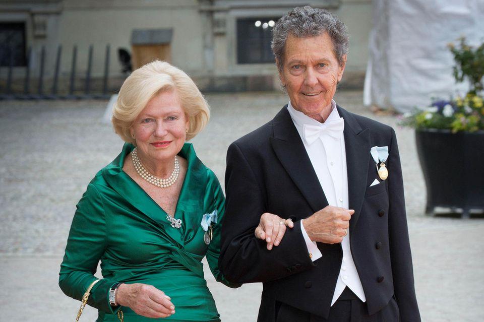 Ingrid und Walther Sommerlath bei der Hochzeit vonPrinz Carl Philip und Sofia Hellqvist am 13. Juni 2015 in Stockholm.