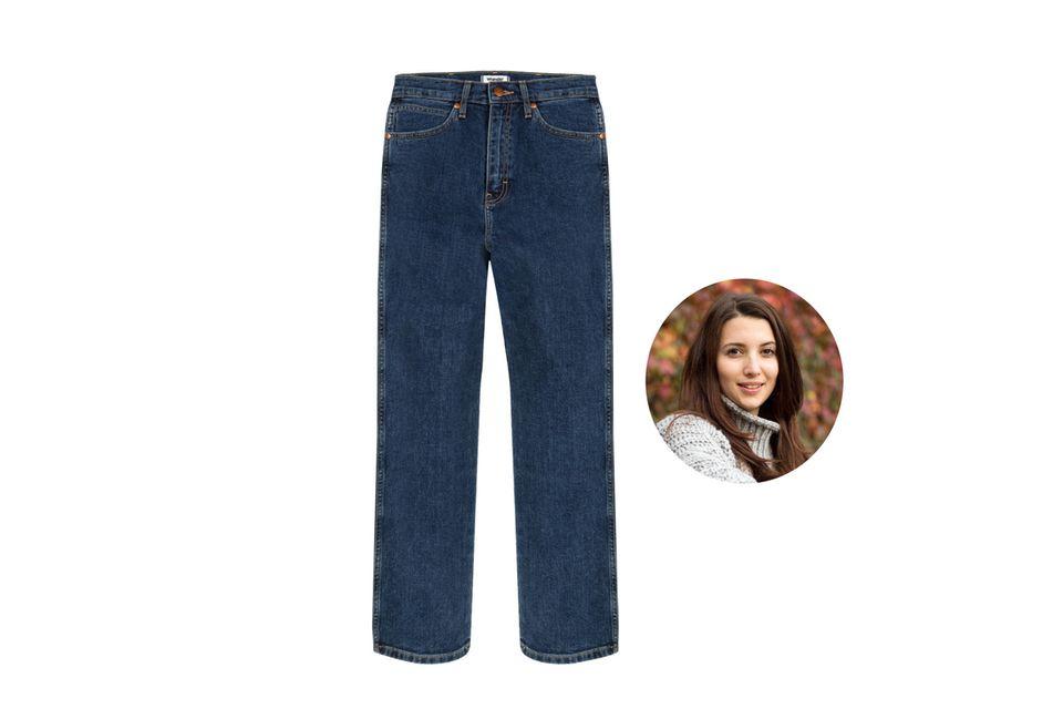 Dunkle robuste Jeansstoffe sind perfekt für nasskalte Herbsttage, findet Redakteurin Ilka.