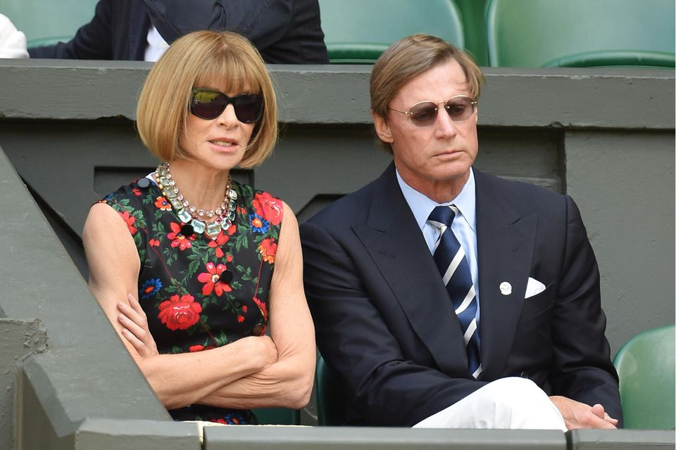 Anna Wintour undShelby Bryan 2015 in Wimbledon, London.