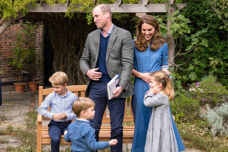 Prinz William undHerzogin Catherine mit Prinz George, Prinzessin Charlotte und Prinz Louis