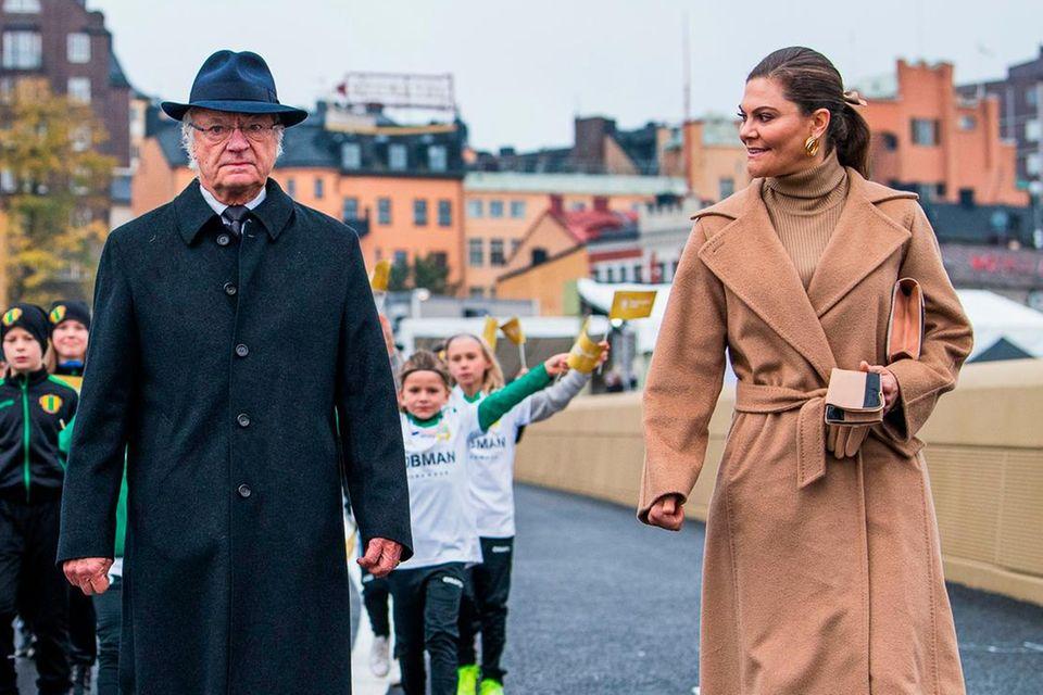 König Carl Gustaf und Prinzessin Victoria