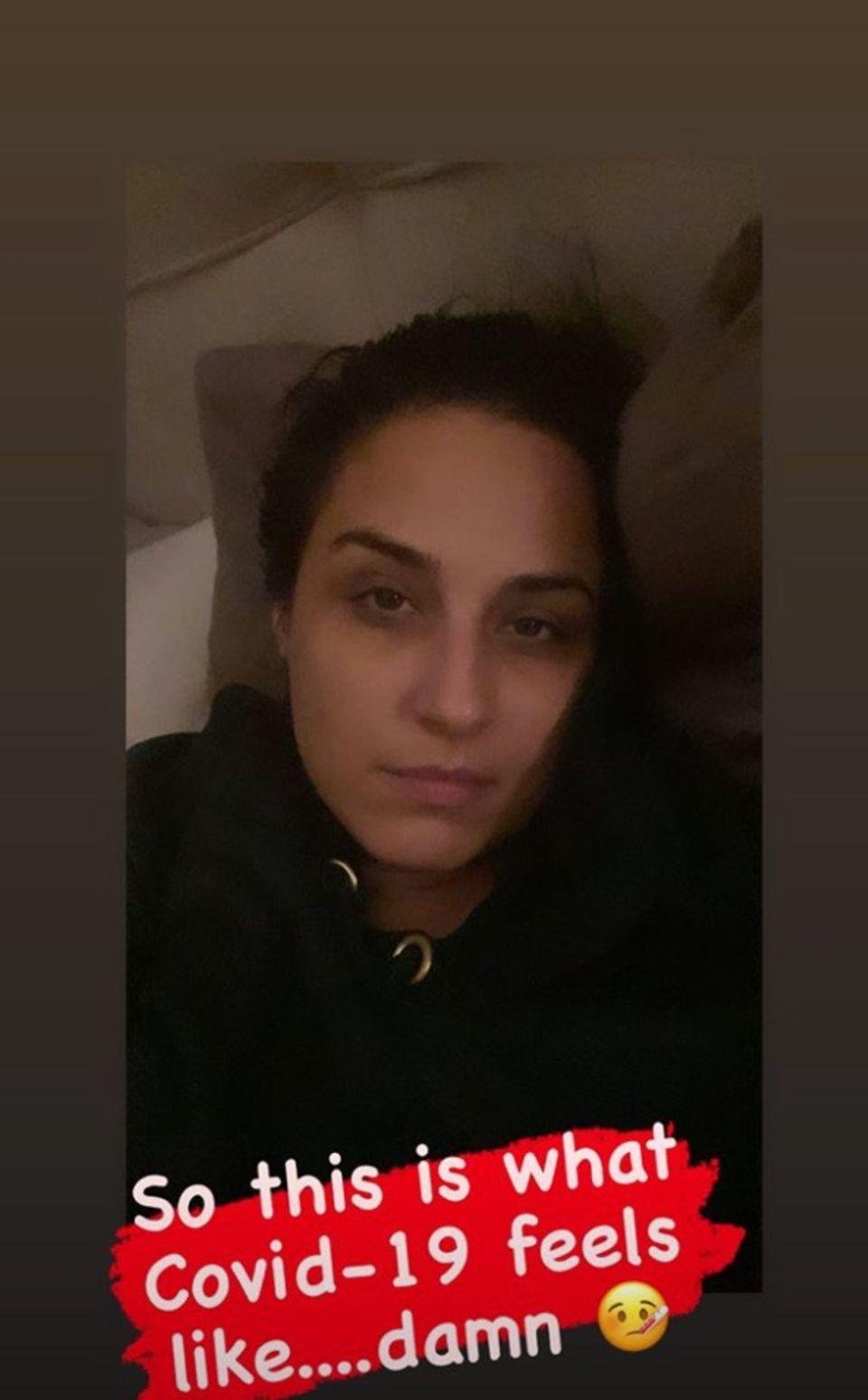 Nina Moghaddam hat sich mit dem Coronavirus infiziert.