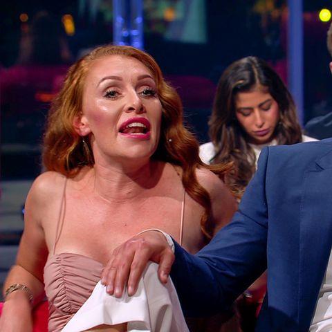 """Georgina Fleur und Kubilay Özdemir bei der Wiedersehens-Show von """"Das Sommerhaus der Stars"""" - zu sehen auf TVNow."""