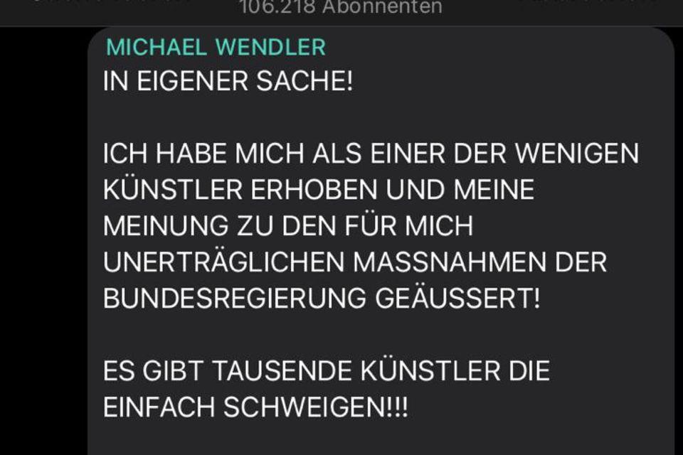 Michael Wendler auf Telegram