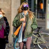Heidi Klum trägt wilden Stil-Mix
