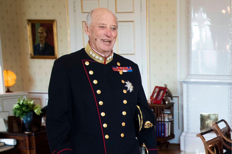 König Harald bei einer Audienz am5. November 2020 im Königlichen Palast in Oslo.