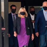 Seriöse Looks wie Etuikleid und Blazer kombiniert die zukünftige First Lady gerne mal mit Stiefeln.
