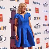 Glänzender Auftritt: Im blauen Satin-Dress ist Jill Biden bei denGLSEN Respect Awards 2017 ein toller Hingucker.