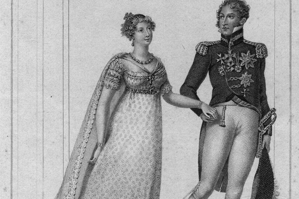 Prinzessin Charlotte Augusta von WalesmitPrinz Leopold in 1815.