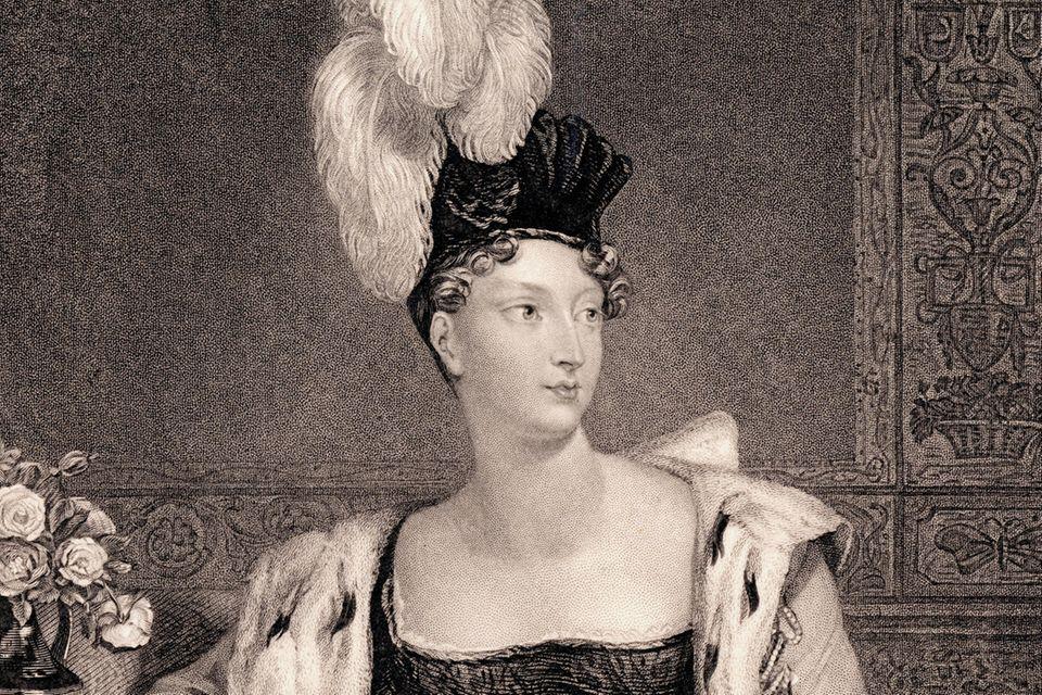 Prinzessin Charlotte Augusta von Wales auf einem Gemälde vonHenry Thomas Ryall.