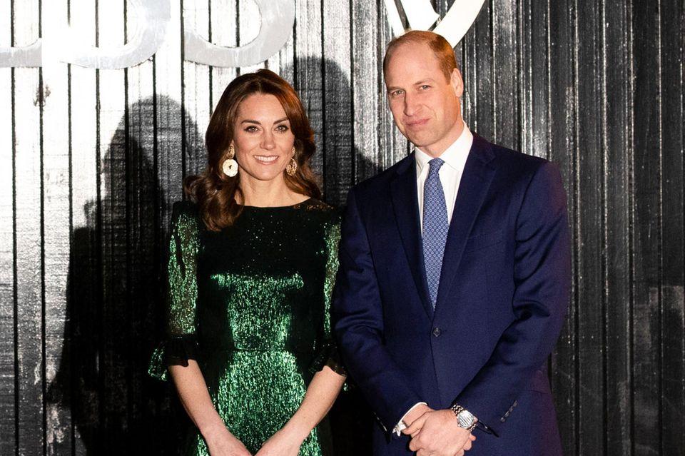 """Herzogin Kate trägt das smaragdgrüne Kleid des Labels """"The Vampire's Wife"""" während der Irlandreise am 3. März 2020."""