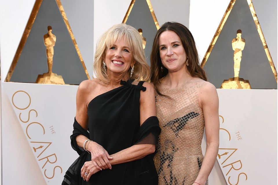 Jill und Ashley Biden bei den Oscars 2016.