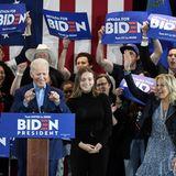 22. Februar 2020  Während des Wahlkampfs wird Joe Biden tatkräftig von seiner Familie unterstützt. Hier feiern Enkelin Finnegan und Ehefrau Jill mit ihm und seinen Anhängern in Las Vegas.