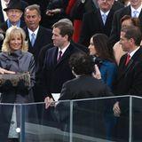 20. Januar 2013  Auf in die zweite Amtszeit: Joe Bidens Kinder Beau († 2015), Ashley und Hunter (v.l.) stehen bei seiner erneuten Vereidigung zum Vize-Präsidenten ganz nah bei ihm und Ehefrau Jill.