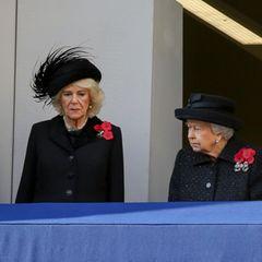Rückblick: 2019 stand die Queen mit Schwiegertochter Camilla und Herzogin Catherine zusammen.