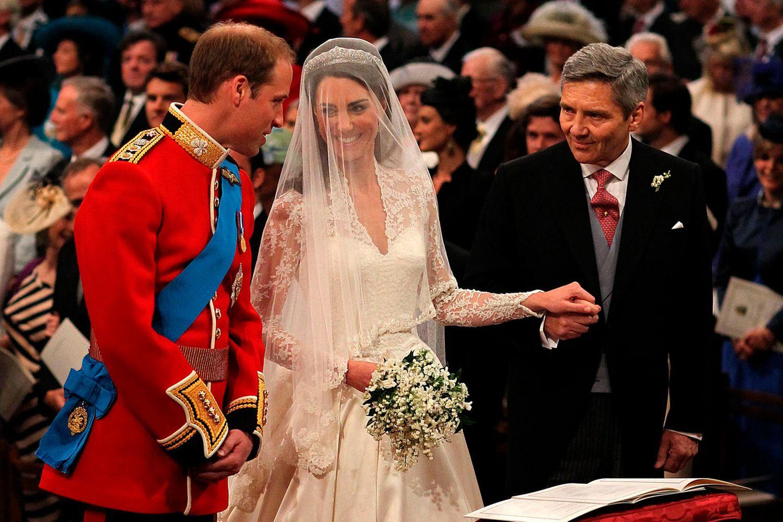 Prinz William, Herzogin Catherine und Michael Middleton