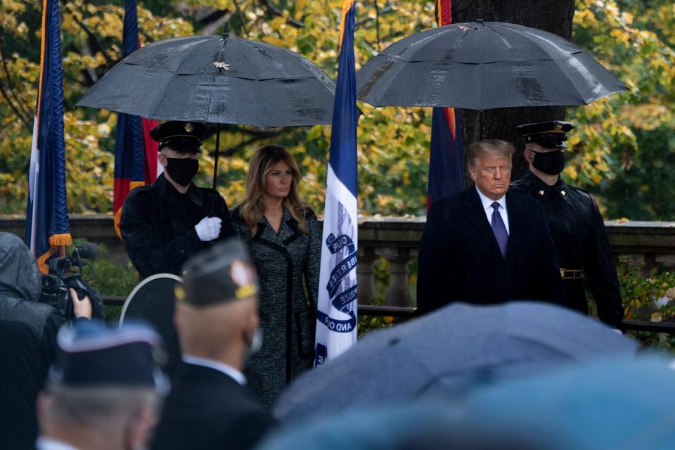 Melania und Donald Trump am 11. November auf dem Nationalfriedhof in Arlington.
