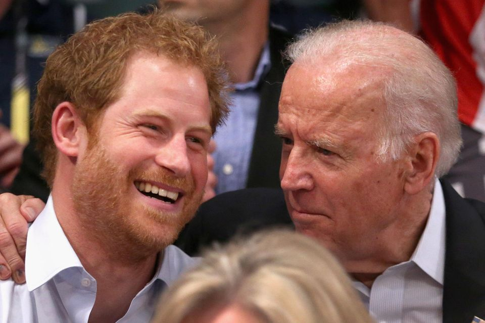 Eine echte Bromance: Prinz Harry und Joe Biden im Mai 2016 in Orlando.