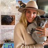 Und auch mit einem Koala darf Elsa Pataky auf Kuschelkurs gehen.