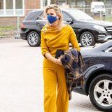 Königin Máxima im sonnengelben Herbst-Outfit