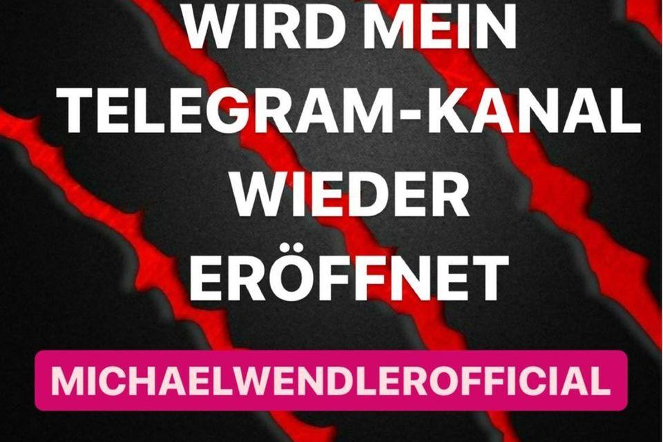 Michael Wendler zurück bei Telegram