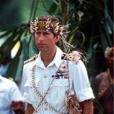 Wie ein Einheimischer: Charles beim Besuch auf Papua-Neuguinea.