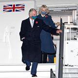 14. November 2020  Prinz Charles und Herzogin Camilla sind zu Besuch in Deutschland. AmSamstagabend landet das Paar mit der Royal Air Force auf dem neu eröffneten Flughafen Berlin Brandenburg (BER). Der Prince Of Wales lässt somitseinen 72. Geburtstagin Berlin ausklingen, um am nächstenTag eine Gedenkrede zum Volkstrauertag im Bundestag zu halten.
