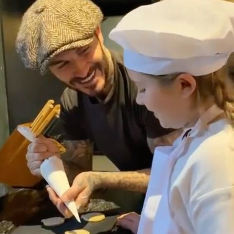 David Beckham + Harper Beckham