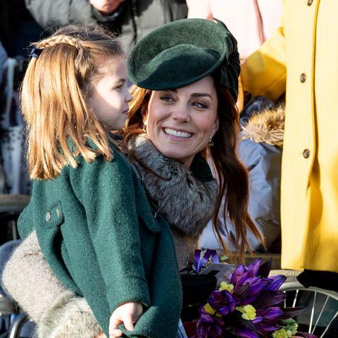 Herzogin Catherine mit Prinzessin Charlotte