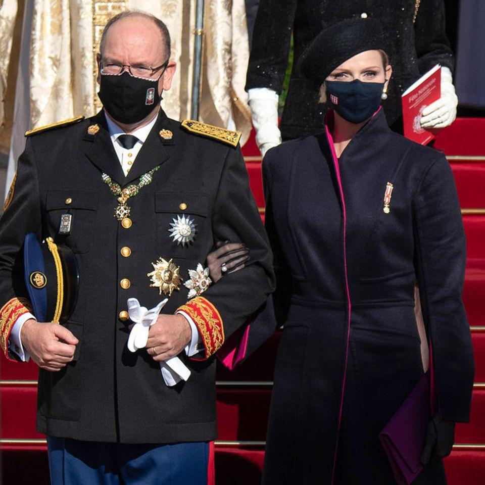 Fürst Albert und Fürstin Charlène