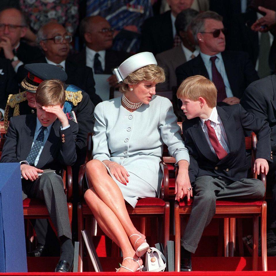 Prinz William, Prinzessin Diana und Prinz Harry