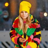 Heidi Klum im Wintermantel von Kirin