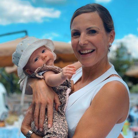 Sabrina Mockenhaupt mit ihrer Tochter Ruby