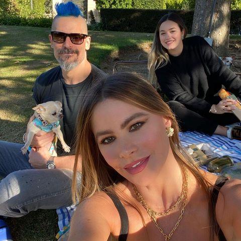 22. November 2020  Sofía Vergara und Joe Manganiello feiern ihren 5. Hochzeitstag mit einem coronabedingten Familien-Picknick an der frischen Luft und mit Abstand zwischen den Decken auf dem Rasen. Zufrieden sehen dabei trotzdem alle aus, und wir gratulieren ganz herzlich!