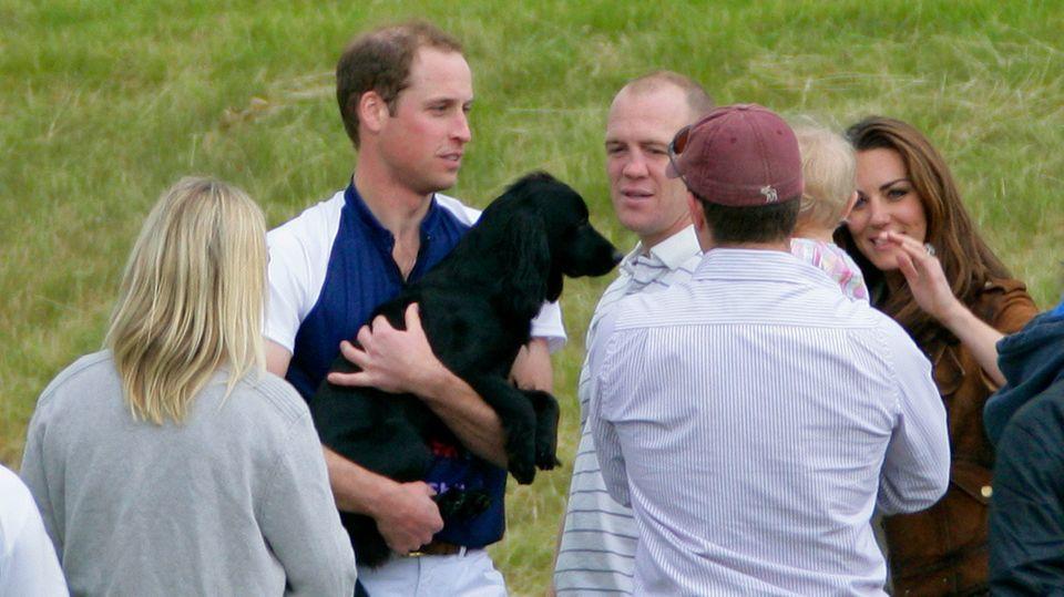 Prinz William, Herzogin Catherine und Hund Lupo