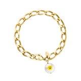 """Gute Laune garantiert: Das 18-karat-vergoldete """"Nice Day""""-Armband von hamburger Schmuckdesignerin Nina Kastens steckt uns mit seinem Lächeln direkt an. Ca. 230 Euro"""