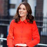 Herzogin Kate trägt orangefarbenen Mantel von Boden