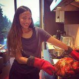 Auch bei Zoe Saldana kommt an Thanksgiving der traditionelle Truthahn auf den Tisch.