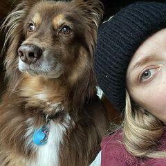 Den bezaubernden Blick haben Amanda Seyfried und ihr bester Freund Finn gleichermaßen drauf.