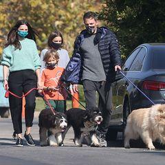 29. November 2020  Normalerweise spazieren Ana de Armas und Ben Affleck allein mit den Hunden durch Los Angeles. Doch diesmal sind auch zwei der drei Kinder von Affleck und seiner Ex-Frau Jennifer Garner mit dabei: Seraphina und der kleine Samuel - und die haben ganz schön viel Spaß!