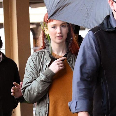 Jennifer Lawrence mit roten Haaren gesichtet