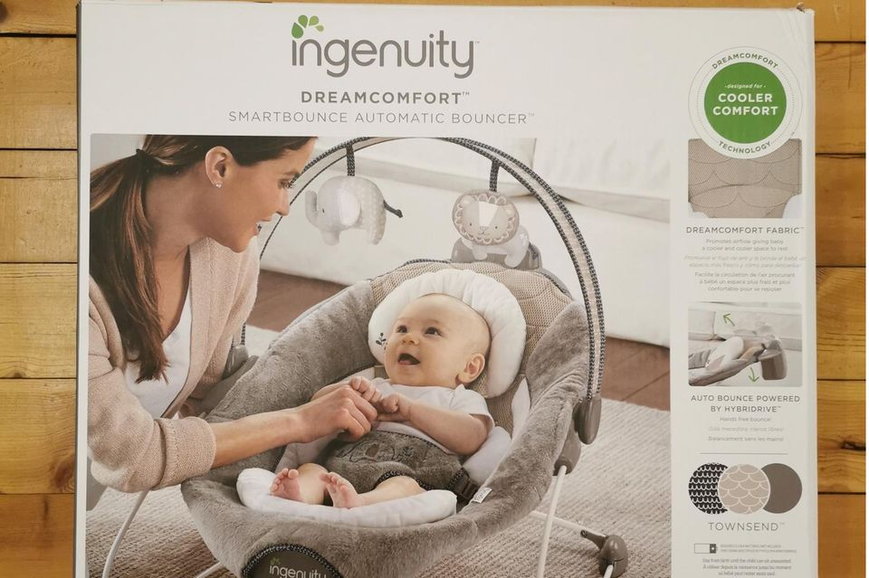 Babywippe, Babywippe Ingenuity, Verpackung Babywippe