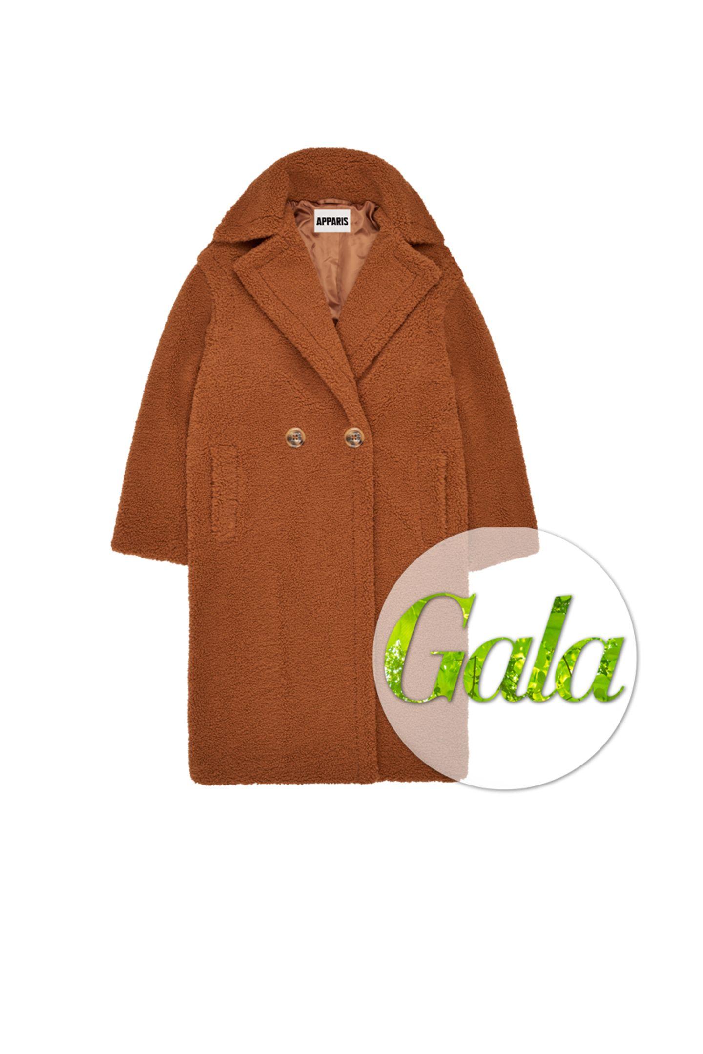 Diese wunderschöne Fell-Jacke von Apparis ist der beste Beweis dafür, dassein flauschiges Tragegefühl umweltfreundlich produziert werden kann. Das It-Piece ist nicht nur vegan, sondern auch frei von Grausamkeiten, kostet ca. 400 Euro.