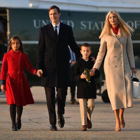 Jared Kushner und Ivanka Trump mit ihren Kindern Arabella und Joseph
