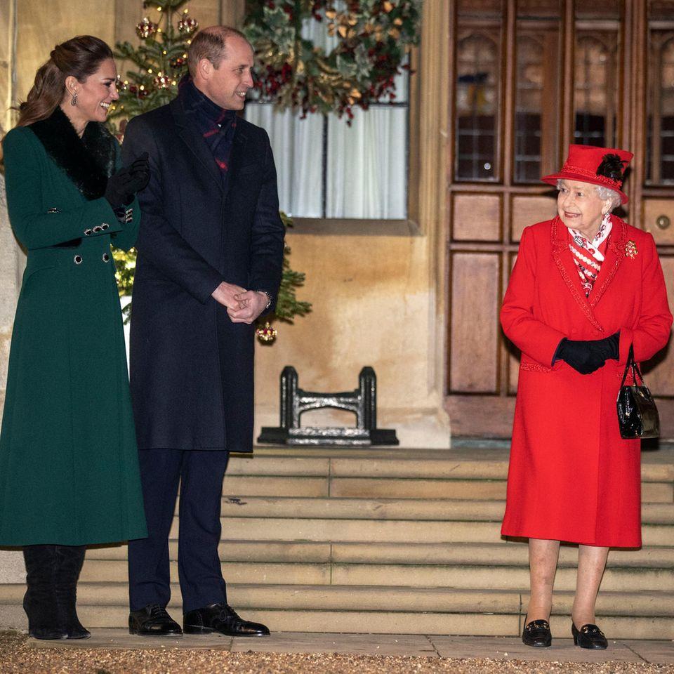 Herzogin Catherine, Prinz William und Queen Elizabeth