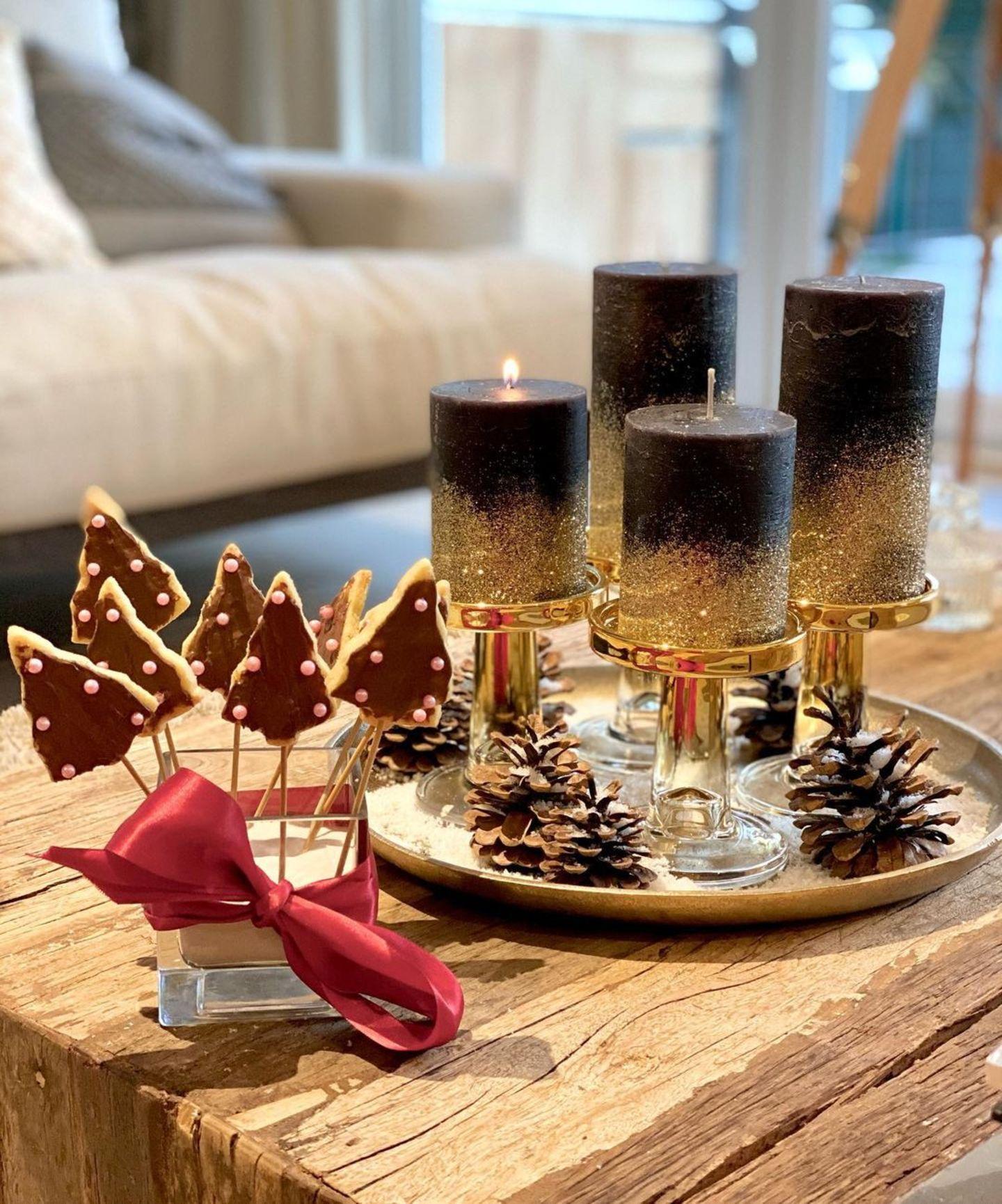 Für die gebürtige Brasilianerin Jana Ina Zarrella zählen viele Kekse und ein Adventskranz zu den schönsten deutschen Weihnachtstraditionen.
